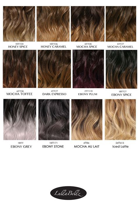 ombre colour chart lullabellz