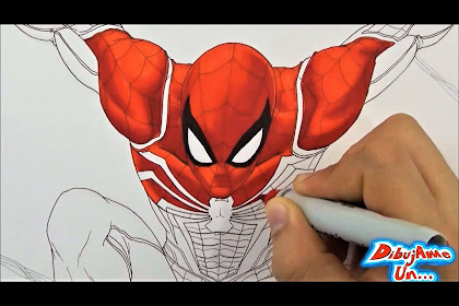 Spiderman Ps4 Dibujo Para Colorear