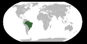 Locator map for Brazil