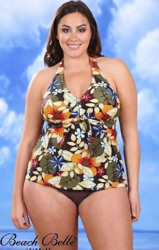 Gayatri Beach Belle Babydoll Plus Size Halter Tankini