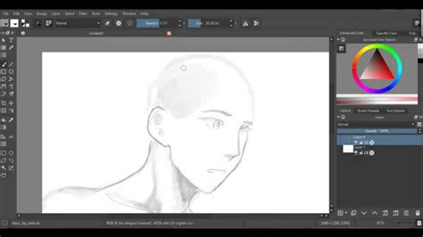 random anime drawing  krita youtube