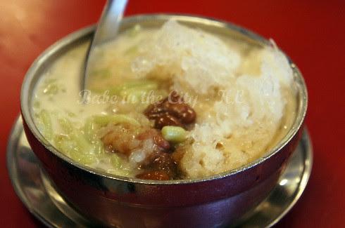 Cendol with glutinous rice