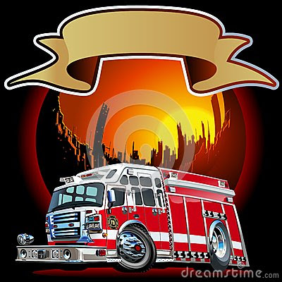 Vector Cartoon Fire Truck Royalty Free Stock Photography - Image: 31805377