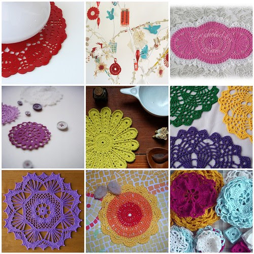 colorful doilies!