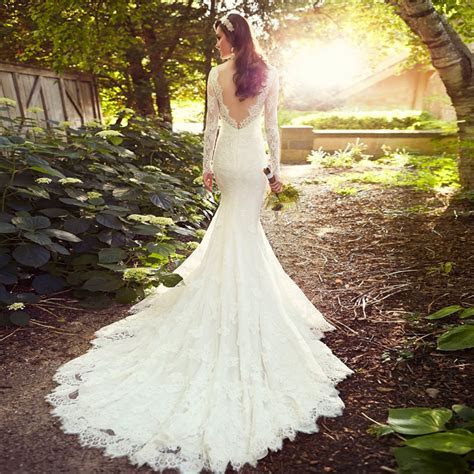 Ball Gown Elegant Lace Wedding Dresses With Long Train