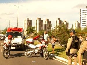 Acidente aconteceu na BR-101, em Natal (Foto: Reprodução/Inter TV Cabugi)