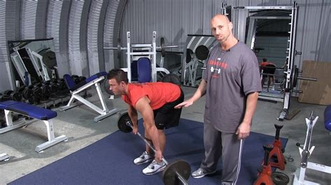 wide grip barbell bent  row youtube