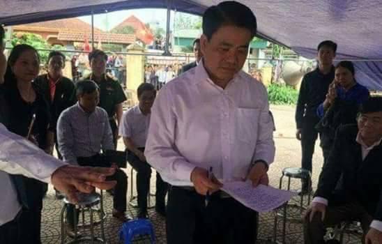 Dân oan Đồng Tâm đã chiến thắng: chủ tịch Nguyễn Đức Chung xuống đối thoại, viết cam kết