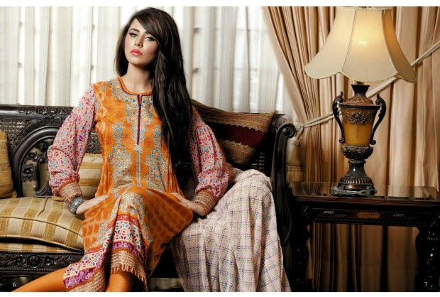 Firdous-Chiffon-Summer-Lawn-Collection-2013-Long-Shirt-with-Short-Tight-Trouser-4