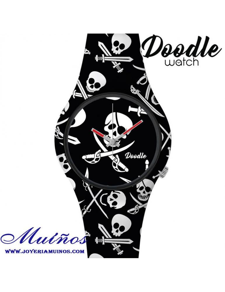 Reloj Doodle Watch Con Calavera Pirata