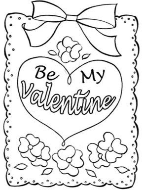 valentines  happy valentines day card printable be my valentine heart coloring page be mine