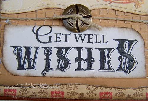 LOC Masculine Get Well Card - Close Up 2 by Lovely Linda Up 1
