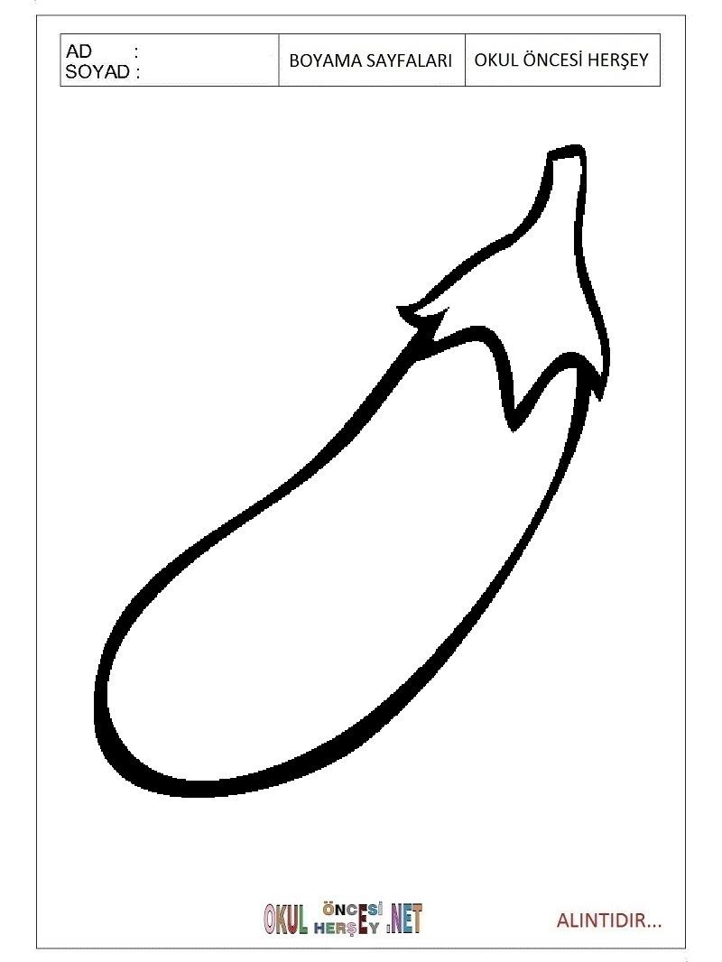 Patlıcan Boyama Sayfaları
