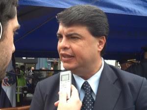 Mario Zamora, Ministro de Seguridad dio hoy los detalles de los allanamientos. CRH
