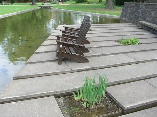 Im Wasser sitzen Wallanlagen Hamburg