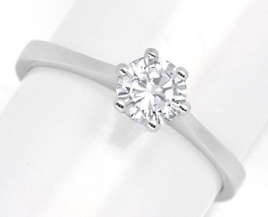 Originalfoto DIAMANT-HALBKARÄTER-RING 0,5ct BRILLANT 18K LUXUS! NEU!