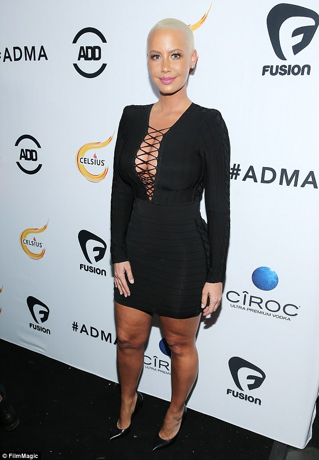 All front: Amber Rose did what she does best at the All Def Movie Awards in Los Angeles, California, on Wednesday night