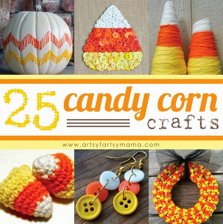 25 Candy Corn Crafts at artsyfartsymama.com #candycorn #Halloween