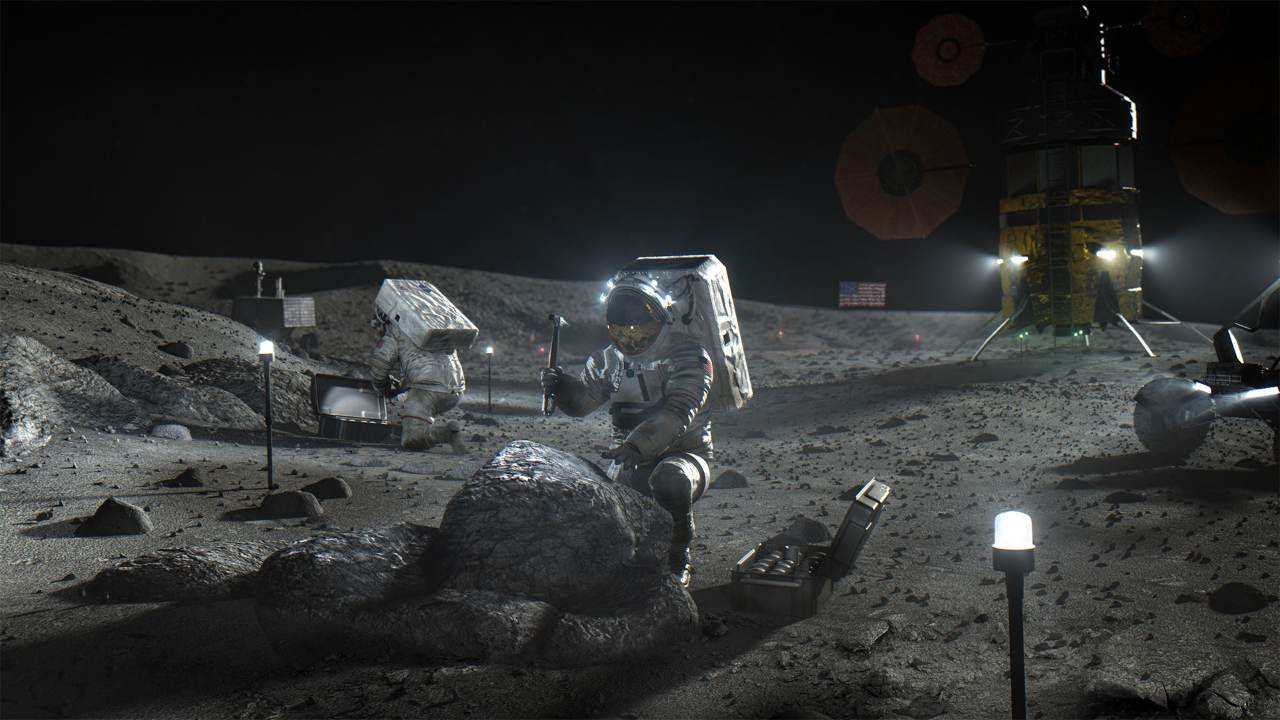 The Artemis Accords establish a practical set of principles to guide space exploration cooperation among nations participating in the agency's 21st century lunar exploration plans. Image credit: NASA