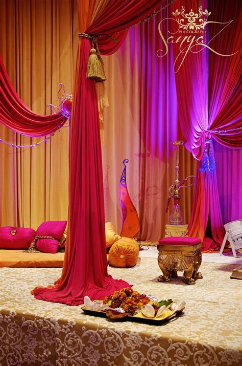 Indian Sangeet Mehendi Stage   Weddings   Mehndi decor