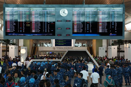 KLIA2 departure board