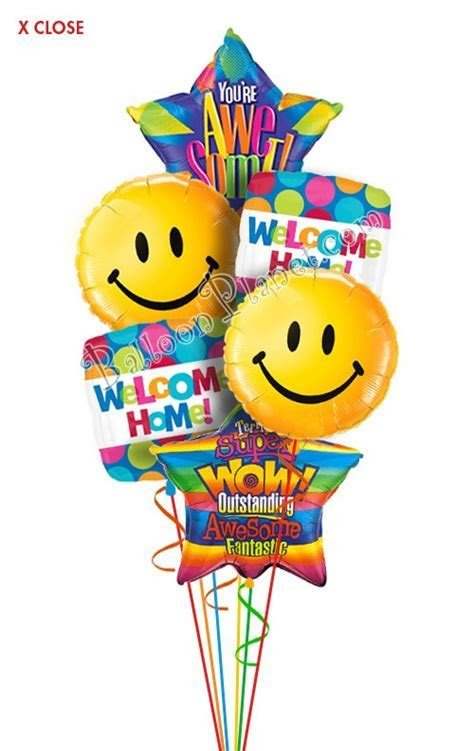 Welcome Home Balloon Bouquets Delivery by BalloonPlanet.com