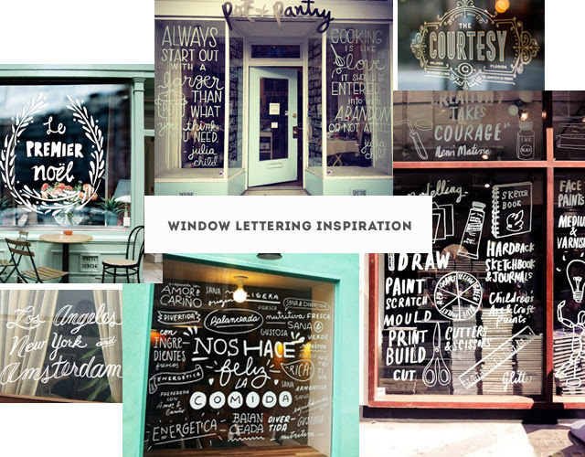 Window Lettering Inspiration