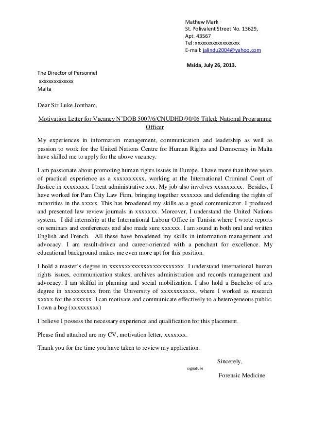 contoh job vacancy dan application letter