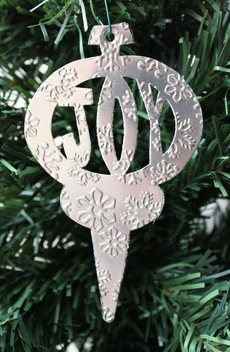 Morganised chaos snowflake embossed carved ornament