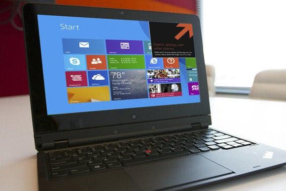 janelas 8.1 em um laptop
