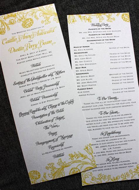 30 Creative Wedding Program Design Ideas   crazyforus