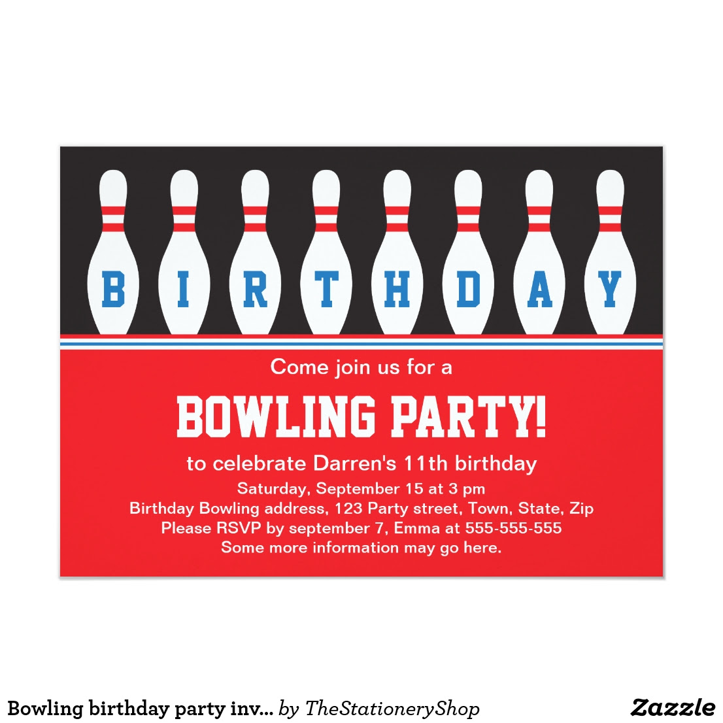 Carte Invitation Anniversaire Bowling à Imprimer Gratuit | dasaquenguli blog