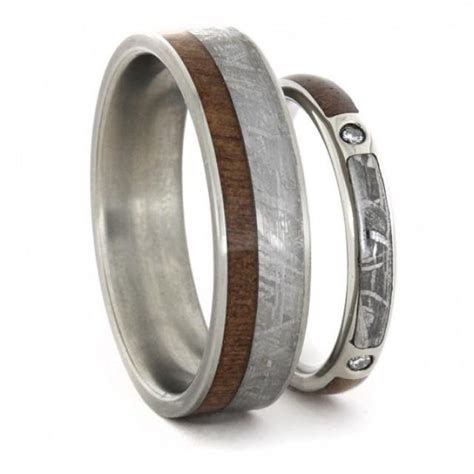 Wedding Ring Set, Diamond Engagement Ring And Wedding Band