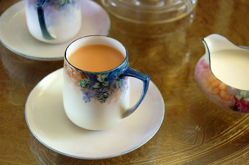 watercolor tea cups