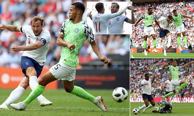 England 2-1 Nigeria: Gary Cahill and Harry Kane both on target in win