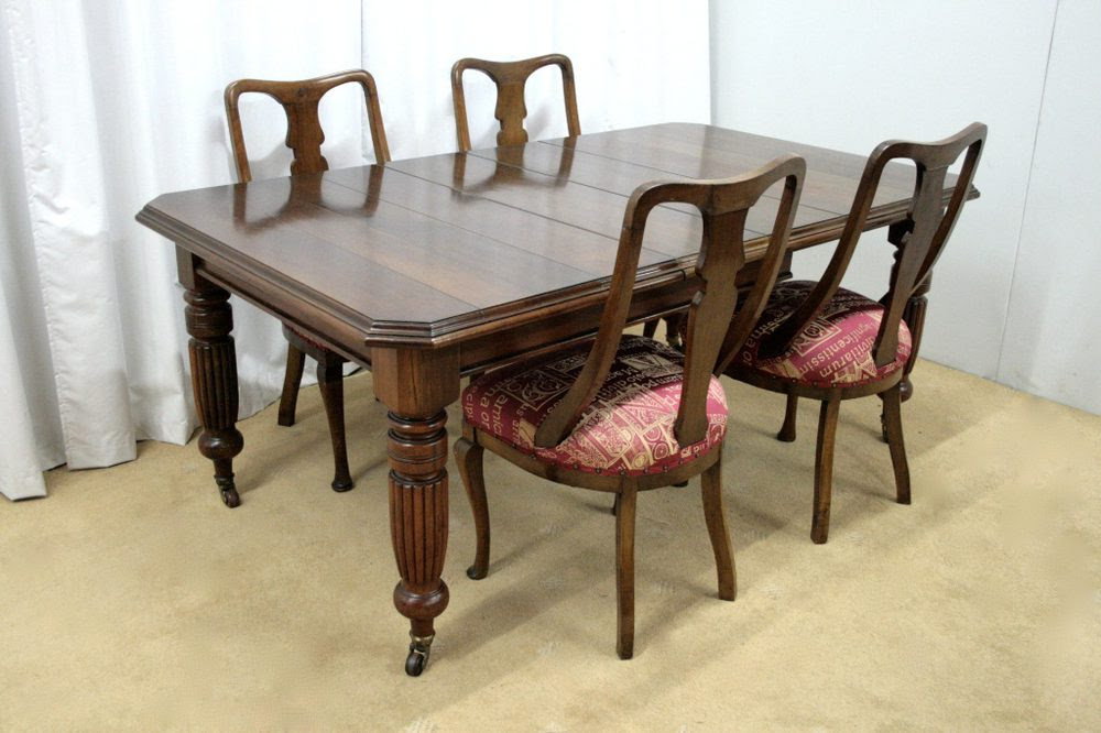 Victorian Dining Table & Chairs - Antiques Atlas