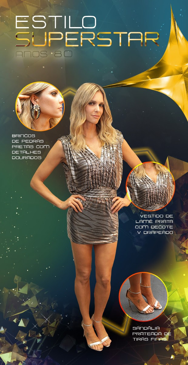 arte look Fernanda Lima (Foto: TV Globo/SuperStar)