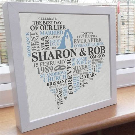 25th Wedding Anniversary Gift Ideas   Gift Ftempo