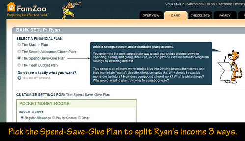 Pick the Spend-Save-Give Plan