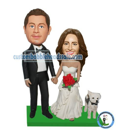Custom Wedding Bobblehead With Dog