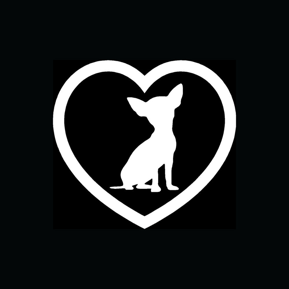 Download Chihuahua Heart Sticker Car Window Vinyl Decal Dog Breed ...