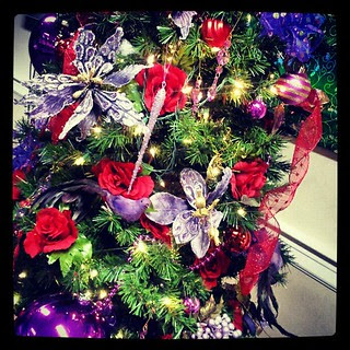 #Christmas #tree at @nhms festival of #christmaslights #purple