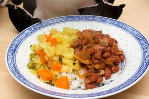 rajmah + cabbage mixed vegetables