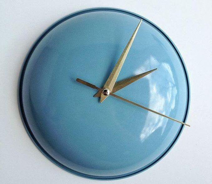 6. Крышка в роли кухонных часов креатив, переделка, своими руками