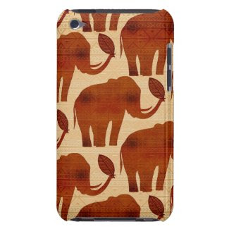 Elephant Tribal Art Design iPod Touch Case