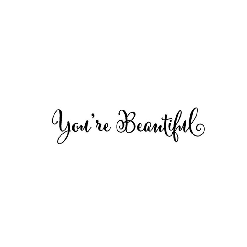 Wall Sticker Quotes Youre Beautiful Wallpaper Window Mirror Sticker