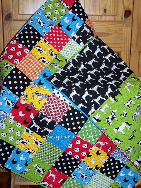 Animal Menagerie Baby Boy Quilt