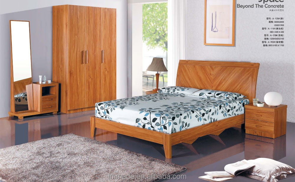 Wood Carving Bedroom Furniture,Environmental Bedroom Set,Home Bedroom Set  B