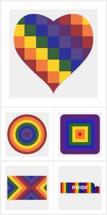 Rainbow Geometric Pattern LGBT Pride Stickers