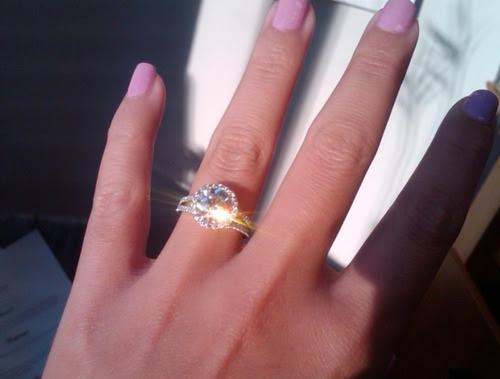 hand girl diamond ring wedding ring engagement engagement ring nails pink
